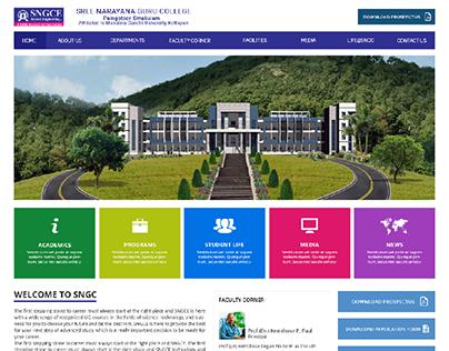SNGC College Website