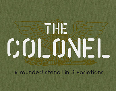 The Colonel a Rounded Stencil with 3 Variations