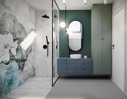 Interior design bathroom