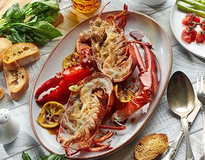 Oyster & Octopus. Fish & Shrimp. SEA