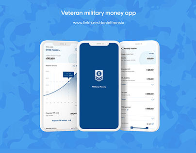 Military money app ui/ux design project