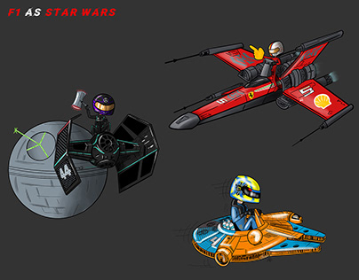 F1 as Star Wars