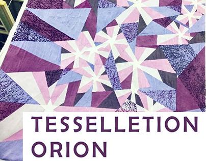 A tessellation artwork through screen printing