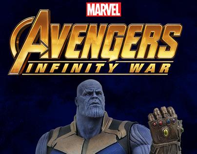 Thanos - Infinity War - PVC Diorama