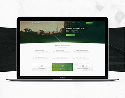 Landing page, IPS forum Web design
