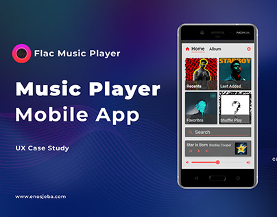 Flac Music Player Mobile App -Ux Case Study