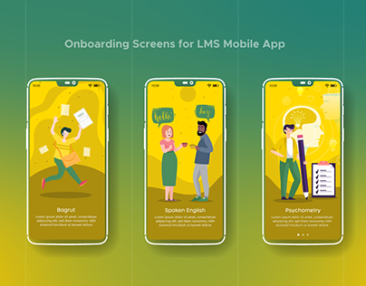 Onboarding screens for LMS App