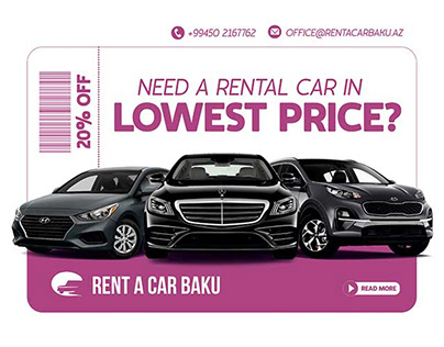 Development of web banners for a car rental company