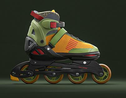 3D. rollerblades