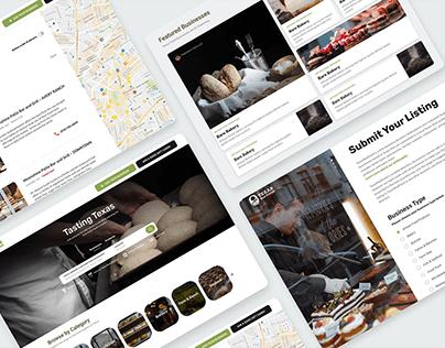 Business Directory Website UI/UX Design