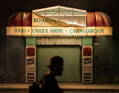 Street photos of living in small american city