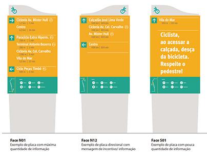 Sinalização Wayfinding ciclovia em Fortaleza
