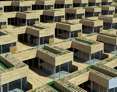 The Mountain Dwellings, Exterior ArchViz project