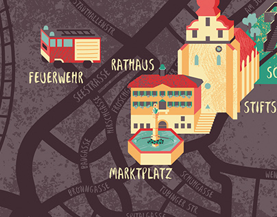 Illustrated City Map of Herrenberg