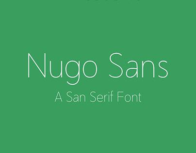 Nugo Sans FREE San Serif Font