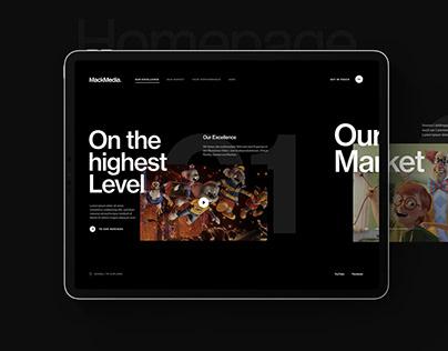Website-Konzept Entertainment
