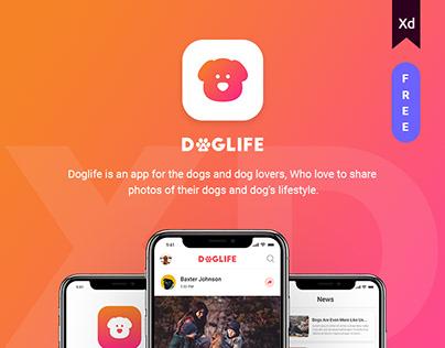 Doglife Ui-Kit Free for Adobe XD