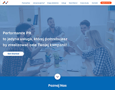 PR agency website / UX design