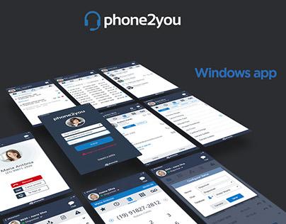 phone2you : windows app