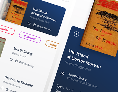 Online Library   App Concept