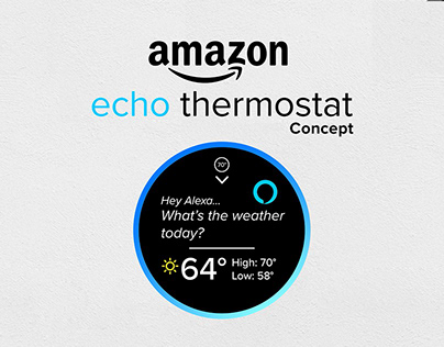 Amazon Echo Thermostat Concept