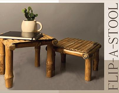 Flip-a-Stool! A bamboo furniture!