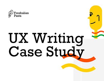 Freshalian Pasta - UX Writing Case Study