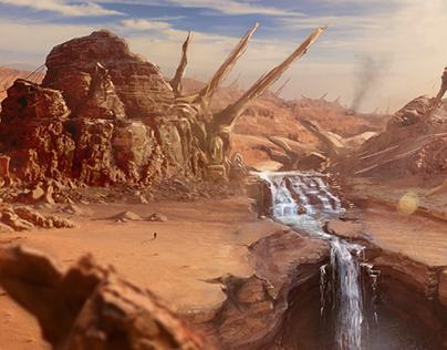 Mars Desert Concept Art