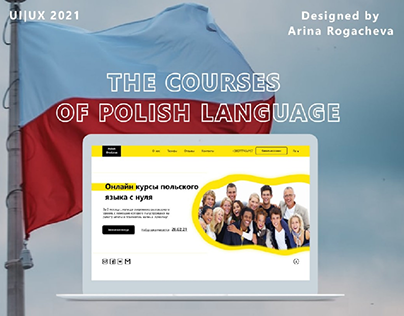 Landing page for courses of Polish language