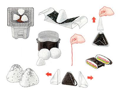 Onigiri illustrations