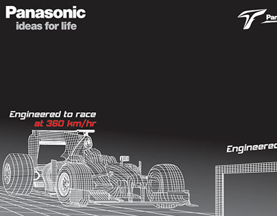 Panasonic yearly campaign concepts and Formula 1 event