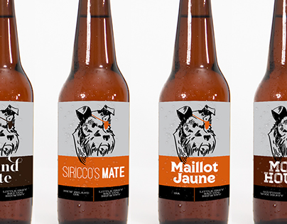 Little Grey Bad Dog Brewery Branding and Packaging