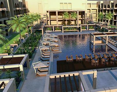 Concorde Hotel Pool Area, El Sokhna, Egypt