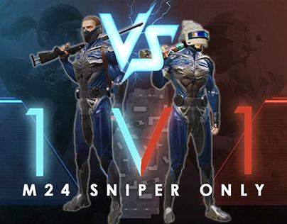 M24 1V1 TDM CHALLENGE | SNIPER ONLY CHALLENGE |