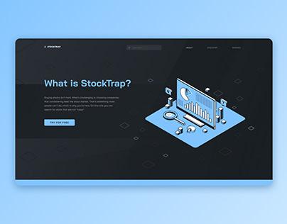 Stock Analyzer Website Design. Figma template