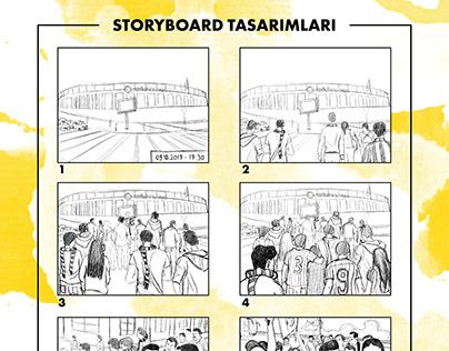 STORYBOARD DESIGN FOR KORKMA FILM