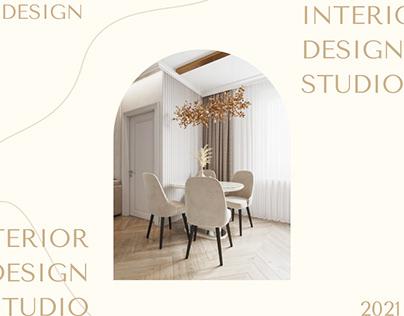 Landing page for interior studio design