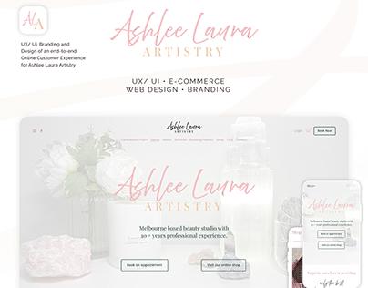 Ashlee Laura Artistry - UX/ UI/ E-Commerce/ Branding