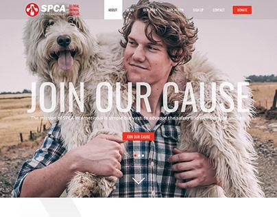 SPCA International - Wordpress redesign and development