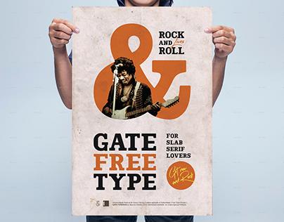 GATE Free Typeface
