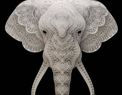 Paper Sculpture Art Elephant