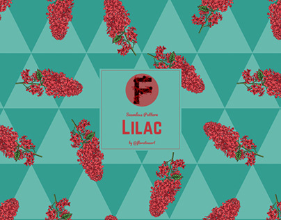 Lilac Floral Pattern Design