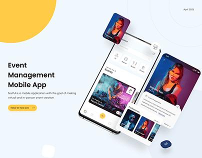 Festful Event Management Mobile App