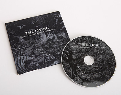 The Living - CD cover & sleeve design