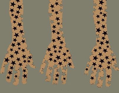 three hands : digital prints
