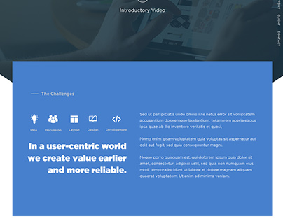 Product Landing page Template Design