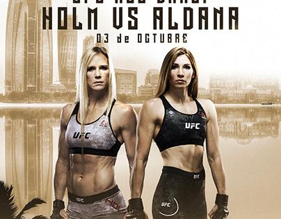 HOLM VS ALDANA | UFC Abu Dhabi POSTER ART