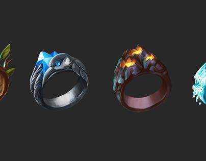Game assets Elemental Rings