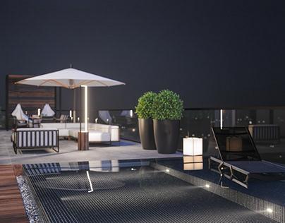 Terrace of Penthouse 01