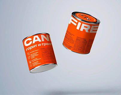 CANFIRE. Бренд и упаковка средства для выживания